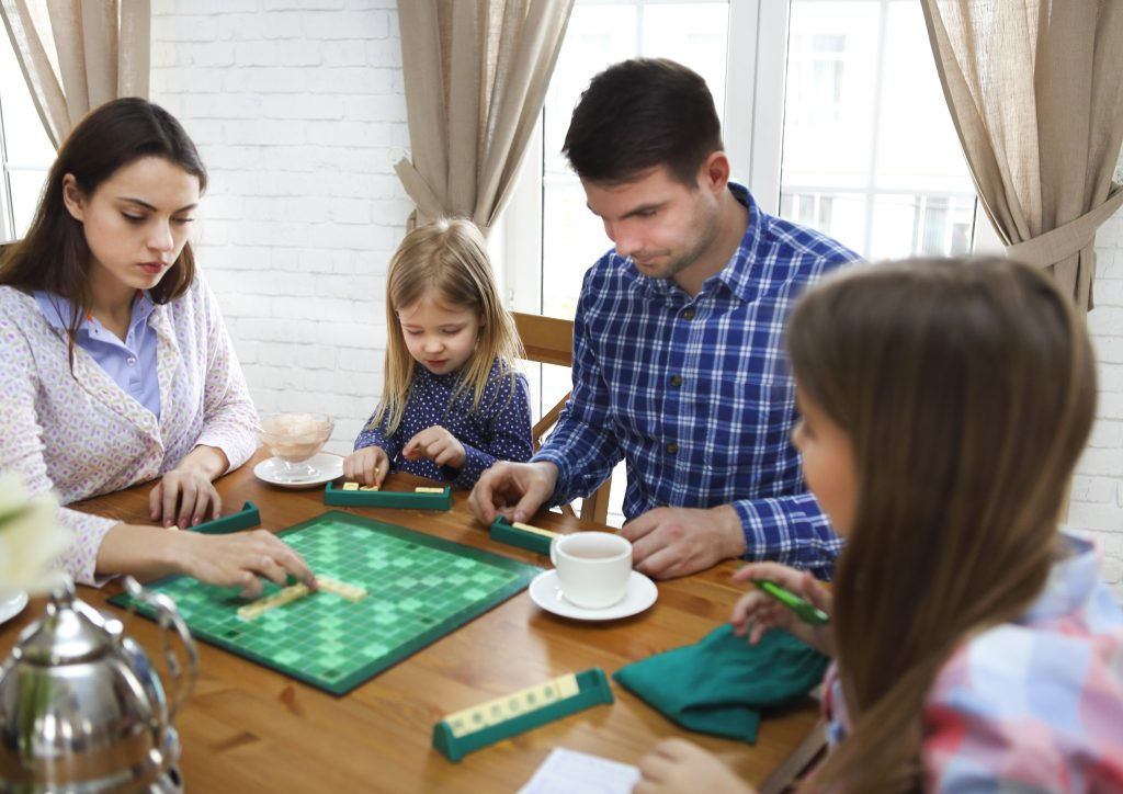 parents and children's activities to fill the holiday such as scrabble